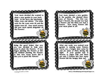 Bee Excited For Math Story Problems