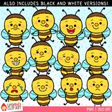 Bee Faces Clip Art