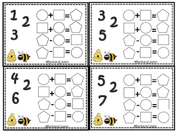 Bee Fact Family Task Cards Common Core MAFS Envision