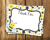 Bee Flat Thank You Note Cards