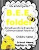Bee Folder (Bring Everything Everyday) Folder Cover and Inside Labels (EDITABLE)