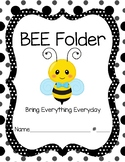 Bee Folder Cover Boy