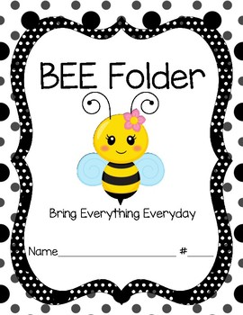 Bee Folder Cover Girl