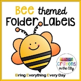 Bee Folder Labels (or Bee Binder) bee theme