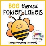 Bee Folder Labels (or Bee Binder) bee theme