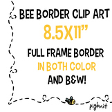 "Bee Frame Border Clip Art | 8.5 x 11"" Zig Zag Bee"