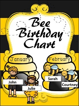 Bee  Friends Birthday Chart