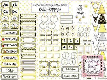 Bee Happy: Classroom Design Set EDITABLE
