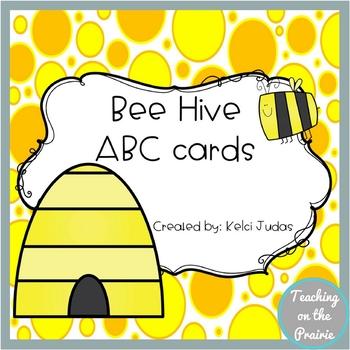 Bee Hive Alphabet Cards