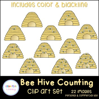 Bee Hive Counting Clip Art