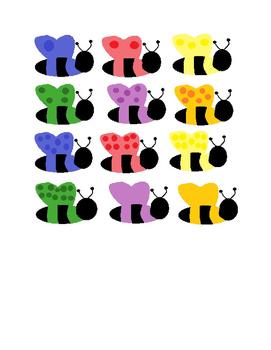 Preschool Bee Hive Counting File Folder Game