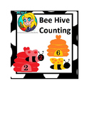 Preschool Bee Hive Counting File Folder Game