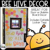 Bee Hive Door or Bulletin Board Template