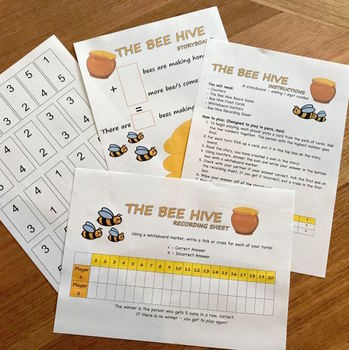 ADDITION MATH GAME - THE BEE HIVE