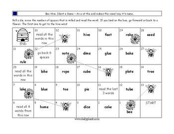 Bee Hive Silent e game