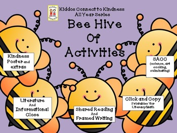 Kindness-Bee Hive of Activities - Kiddos Connect All Year to Kindness