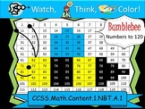 Bee Hundreds Chart to 120 - Watch, Think, Color Mystery Pictures