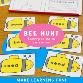 Long e Activity / Center -  Bee Hunt - Write the Room Reading Game