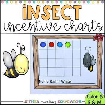 Incentive Charts with a Bumble Bee Theme