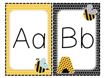 Bee Individual Alphabet and Number Signs