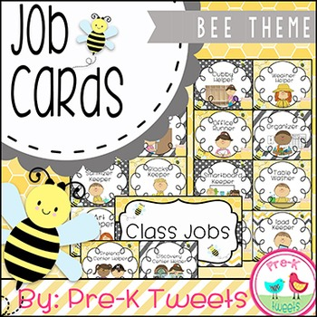 Classroom Jobs - Bee Theme