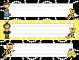 Bee Kids Name Tags / Desk Plates
