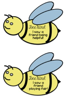 Bee Kind (Caught bee-ing kind & Bee Kind, Please Donate to our class!)