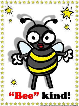 Bee Poster: Bee Kind Poster for Students - Superstars Theme