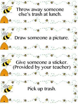 Bee Kind Random Acts of Kindness