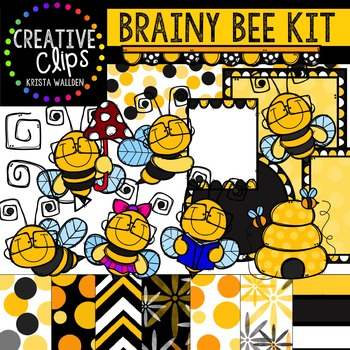 Bee Kit {Creative Clips Digital Clipart}
