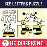 Bee Letters Puzzle (2X2, 3X3, 4X4)
