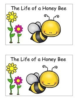 Bees Life Cycle, Emergent Reader, Cut and Paste, Bee Themed Activities Reader