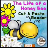 Bees Life Cycle, Emergent Reader, Cut and Paste, Bee Theme