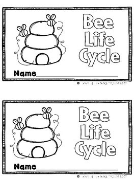 Bee Life Cycle  (A Sight Word Emergent Reader and Teacher Lap Book)