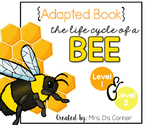 Bee Life Cycle Adapted Books [Level 1 and Level 2]