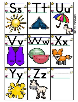 Bee Line Alphabet Picture Flash Cards