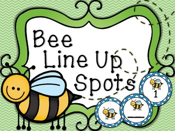 Bee Line Up Markers