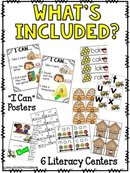 Bee Literacy Centers - 6 Stations
