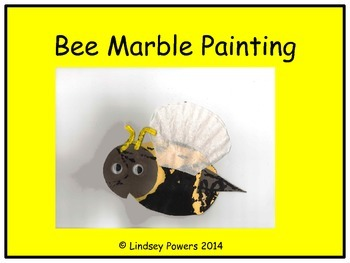 Bee Marble Painting