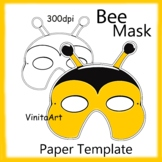 Bee Mask, Paper Mask Template, Honey Bee