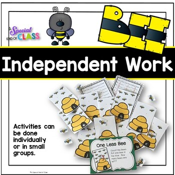 Bee Math Work Station Activities - Numbers 1 to 10