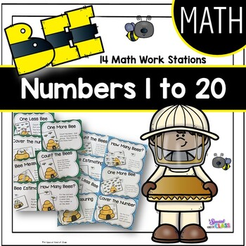 Bee Math Work Station Activities - BUNDLE