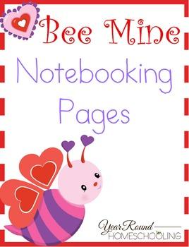Bee Mine Notebooking Pages (Kindergarten through Middle School)