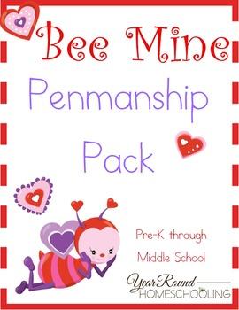 Bee Mine Penmanship (PreK - Middle School)