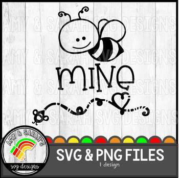 Bee Mine SVG Design