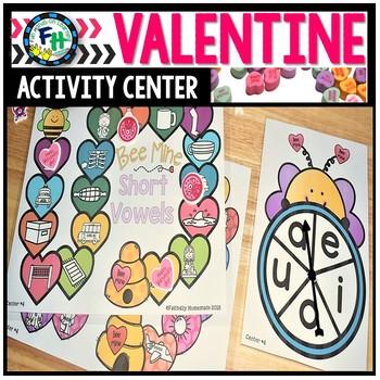 Valentine Activity Center {Short Vowels}