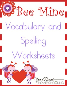 Bee Mine Vocabulary and Spelling Worksheets