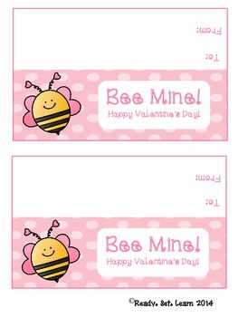 Bee Mine Valentine's Day Treat Bag Topper