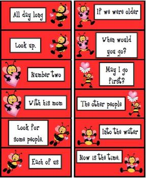 Bee Mine...Reading Fluency Phrases in a Line!