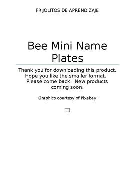Bee Mini Name Plates